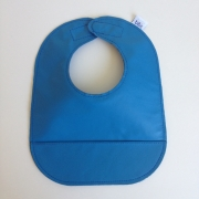 mally bibs solid leather bib - sailor