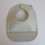 mally bibs solid leather bib - sand