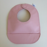 mally bibs solid leather bib - seashell
