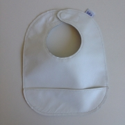 mally bibs solid leather bib - snowflake