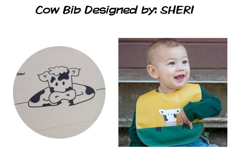 cow bib by mally bibs