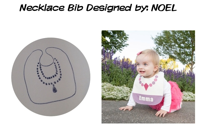 necklace bib by mally bibs