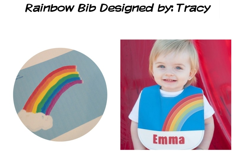 rainbow bib design by mally bibs