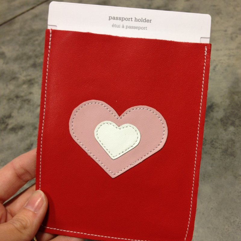 heart passport holder