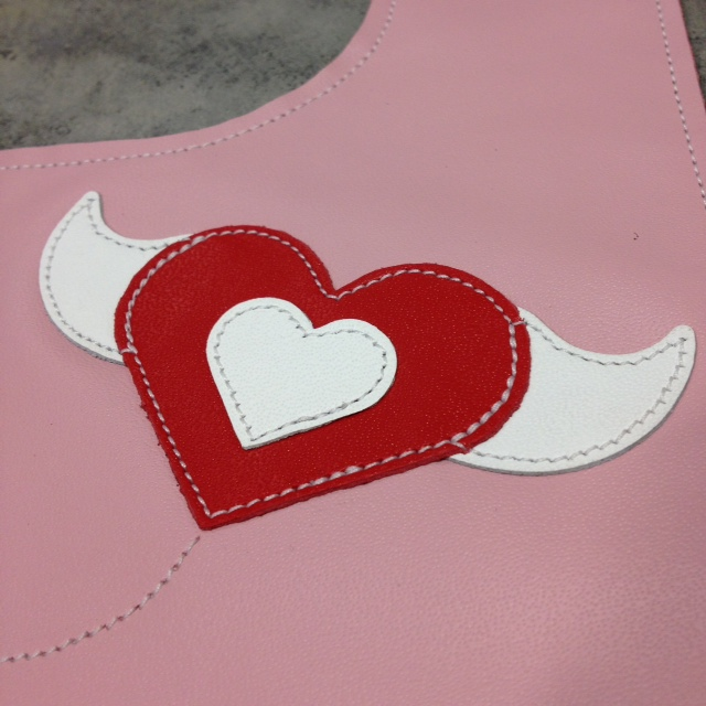heart toddler bib