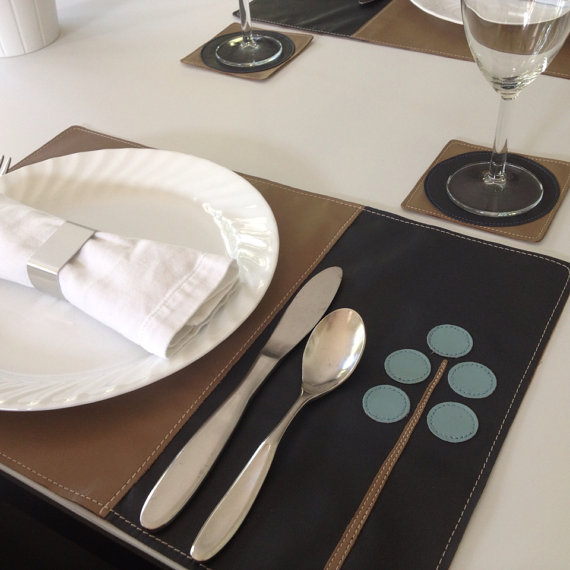 Modern Tree Leather Placemat