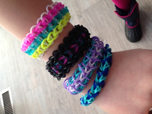 Malia's rainbow looms